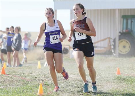 Local runners battle their way to the finish line.