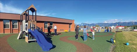 A grand opening ceremony for the new special needs playground at Cherry Valley school was held Thursday, Oct. 7. Teachers, school administrators, playground donors, parents and children attended.