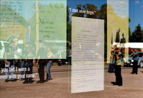 The mobile museum displays letters of servicemembers whose names are inscribed on both the traveling exhibit and on the full-scale Vietnam Veterans Memorial in Washington, D.C.