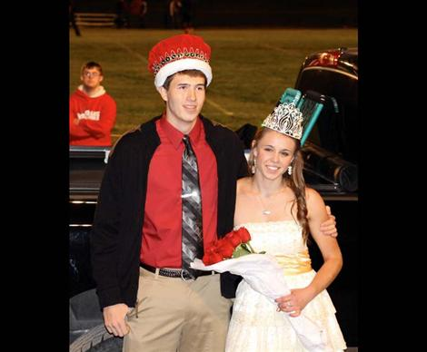 Josh Reed and Alexis Shick were crowned King and Queen during halftime of their homecoming game.