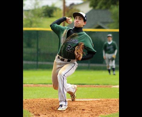 Pitcher Ryan Pablo got the win Sunday against the Kalispell Lakers, striking out one and walking none.